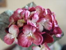 VELVET MILLINERY FLOWERS - BUNCH OF RED & CREAM VIOLAS