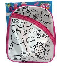 Peppa Pig Pink Backpack Child Toddler School Bag Rucksack Colour My Own BackPack
