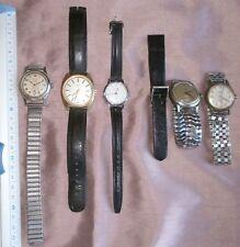 Lot de 5 montres anciennes vintage REGULA KIPLE EDMA PAX SAVIEM - à restaurer !