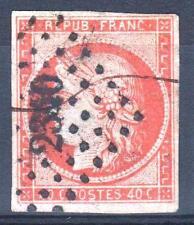 "FRANCE  STAMP TIMBRE N° 5 "" CERES 40c ORANGE "" OBLITERE PETIT CHIFFRE  TB  M914"
