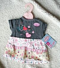 CUTE BABY ANNABELL DENIM OUTFIT! Incl HANGER! ZAPF CREATION, BRAND NEW with TAGS