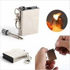 Fire Starter Flint Match Lighter Metal Outdoor Hiking Emergency Survival Kit new
