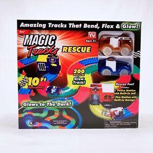 ONTEL Magic Tracks Rescue Race Car Set Multicolor 10ft Bendable Track RC Car Toy
