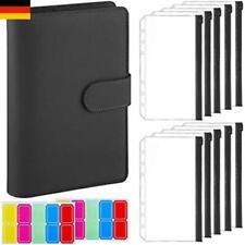 A6 PU Leder Notebook Binder Budget Planer Organizer Cover Taschen Geldbörse DHL