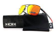 POLARIZED New OAKLEY GAUGE 6 Polished Black Prizm Ruby Sunglasses OO 6038 0457