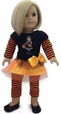 "Halloween Shirt with Witch & Leggings made for 18"" American Girl Doll Clothes"
