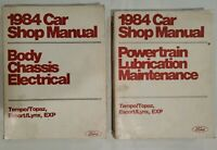 Lot Of 2: Ford 1984 Car Shop Manuals Powertrain, Electrical, Maintenance