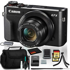 Canon PowerShot G7 X Mark II Digital Camera (Intl Model) with (2)128GB SD Cards