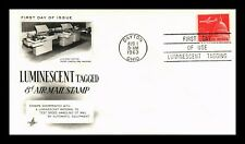 DR JIM STAMPS US LUMINESCENT TAGGED AIR MAIL UNSEALED FDC COVER ART CRAFT