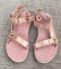 New Teva Original Universal Radiant Sport Sandal Women's Size 6 Rose Gold