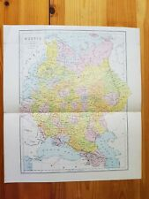 19th/early 20th century Engraving map of Russia, J Bartholomew
