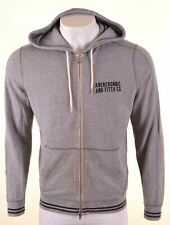 ABERCROMBIE & FITCH Mens Hoodie Sweater Large Grey Cotton  KA20
