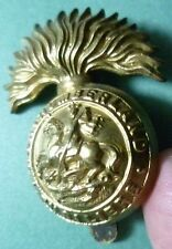 Badge- WW1 Royal Northumberland Fusiliers Cap Badge (All BRASS) maker JR GAUNT