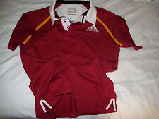 ADIDAS RUGGED COTTON RUGBY JERSEY-SEWN & EMBROIDERED- SUPPORTED WITH PASSION-XL