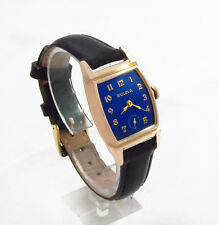 Stunning 1949 BULOVA Cobalt Blue Men's Vintage Watch - Serviced