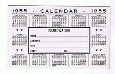1955 Unused Billfold Calendar Cordion-Pac Identification Card Holder Calendar