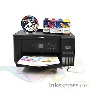 A4 Sublimation Printer Bundle: EPSON ET-2750 + 4 x 100ml Ink + Paper - None OEM