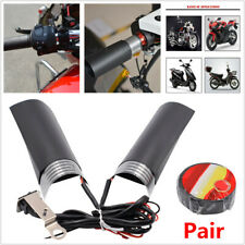 12V Motorcycle Quick Heated Hand Grip Pads Handlebar Heater Warm W/ Adhesive Tap