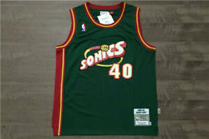 Shawn Kemp #40 Jersey of Seattle Supersonics Basketball Team - Sizes : S to 4XL