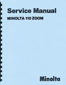 Minolta 110 Zoom Camera Service & Repair Manual Reprint