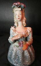 Antique Cordey Large Bust Figurine Lace Design Dress #5037 Lace Ruffled Collar