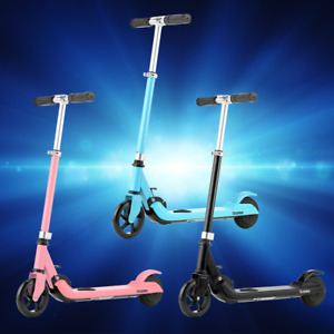 Kids Electric E-Scooter Folding Lightweight Boy&Girl Gift Adjustable Height PU