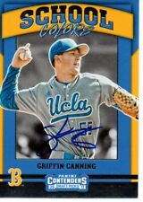Griffin Canning UCLA Bruins 2017 Panini Contenders School Colors Signed Card