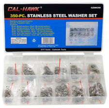 New 350PC Stainless Steel Flat Spring Washers Assortment Steel Lock Washer Set