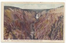Early Haynes Yellowstone National Park Postcard Artists Point Canyon  #RR46