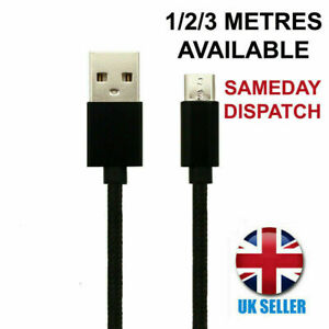 For Nokia 5310 (2020) Charger Cable Micro-USB Black Charging Lead 1M 2M 3M Long