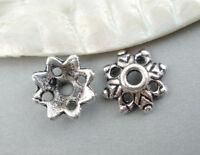 L/P 150 Antiksilber Blumen Perlen Beads Ende Kappen Spacer