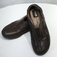 Womens Clarks Artisan Slip on Loafers Shoes size 7.5 M Brown Leather Comfort