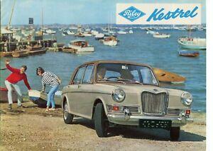 RILEY KESTREL 1100cc - 1965 UK sales brochure - 8 pages