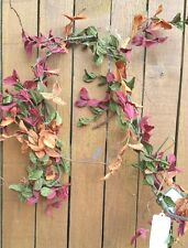 2-5 foot Garlands Orange and Maroon other one Red Orange Berries and Greenery