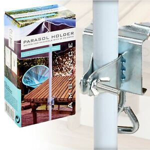 Stainless Steel Metal Parasol Umbrella Holder Clamp for Garden Table Balcony