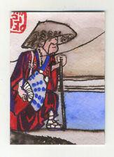 Original signed ACEO by Lucy Smith.  'Kagegawa #4 (after Hiroshige)' Japan