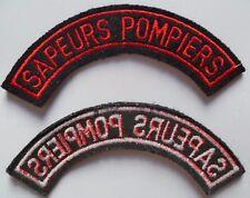 Insigne tissu banane SAPEURS POMPIERS titre de bras Patch uniforme France NEUF