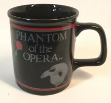 Phantom Of The Opera Vintage 1988 Coffee Mug Cup Black With Red Rose And Mask
