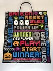 """Amscan Retro Large Plastic Video Game Trick or Treat Bags w/ Handles 14"""" x 16"""""""