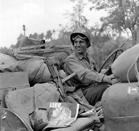 WW2 Photo WWII  US Army Military Police Thompson M1A1 Italy 1944 World War/ 1409
