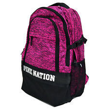 Victoria s Secret Pink Black Mesh Backpack Collegiate Book Bag 9c5be8c617
