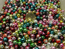 1/2 POUND LOT ASSORTED COLOR REFLECTIVE GRANITE GLASS BEADS (082820159)