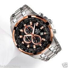 EF-539D-1A5 Casio Watch Edifice Chronograph Gold Black 100m Analog Stainless Ste