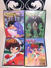 Ranma 1/2 Ranma Forever 4 DVD Set Vol. 3,4,5,&6 OOP Viz Pioneer Random Rhapsody