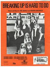 Partridge Family - Breaking Up Is Hard To Do Music Sheet / Neil Sedaka