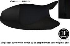 BLACK AUTOMOTIVE VINYL CUSTOM FITS DUCATI MONSTER ALL MODELS UNTIL 07 SEAT COVER