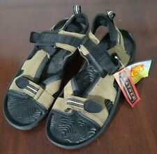 NEW Route 66 Men's Brown Black Leather Sandals size 11