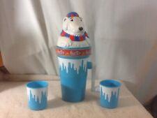 Cool POLAR ICE Crank Icee/Slushy Maker is a POLAR BEAR Has 2 Small Cups pre-own