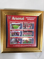 Arsenal Official Stamps Set Of 6 Grenada Stamps 2002 Community Shield Winners.