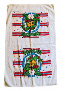 Vintage 1989 Teenage Mutant Ninja Turtles Bath Beach Towel TMNT USA Quinn Bottom